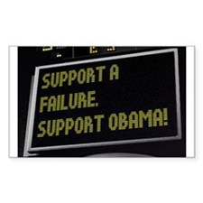 Support Failure - Suport Obama Decal