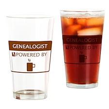 Genealogist Powered by Coffee Drinking Glass