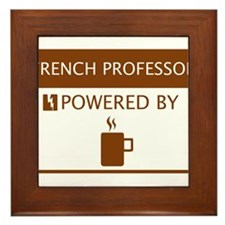 French Professor Powered by Coffee Framed Tile