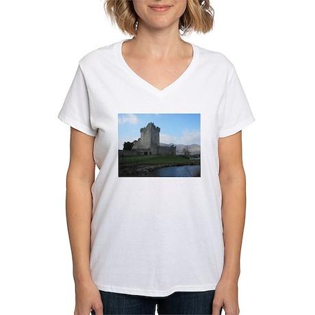 Ross Castle Women's V-Neck T-Shirt
