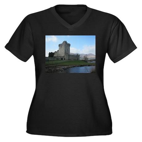 Ross Castle Women's Plus Size V-Neck Dark T-Shirt