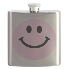 Pink Smiley Face Flask