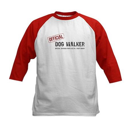 Official Dog Walker Kids Baseball Jersey