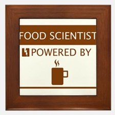 Food Scientist Powered by Coffee Framed Tile