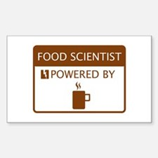 Food Scientist Powered by Coffee Decal