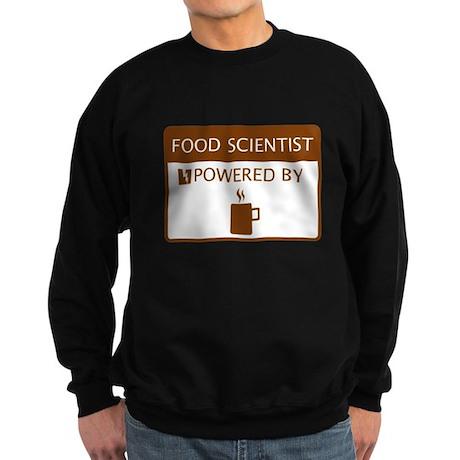 Food Scientist Powered by Coffee Sweatshirt (dark)