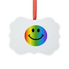 Rainbow Smiley Face Ornament