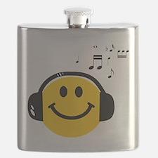Music Love Smiley Flask