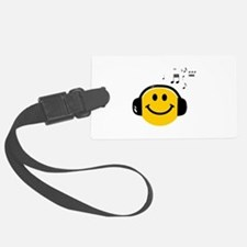 Music Love Smiley Luggage Tag