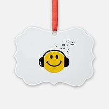 Music Love Smiley Ornament
