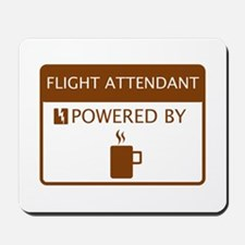 Flight Attendant Powered by Coffee Mousepad