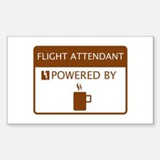 Flight Attendant Powered by Coffee Decal