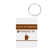 Flight Attendant Powered by Coffee Keychains