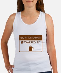 Flight Attendant Powered by Coffee Women's Tank To