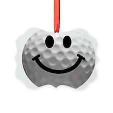 Golf ball smiley Ornament