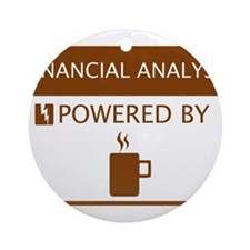 Financial Analyst Powered by Coffee Ornament (Roun