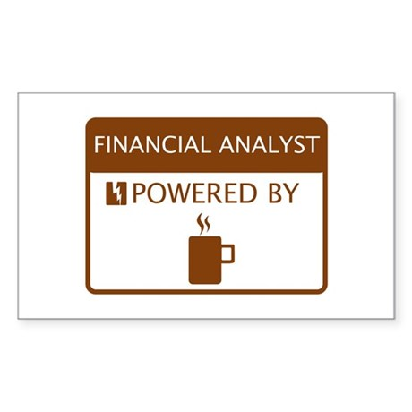 Financial Analyst Powered by Coffee Sticker (Recta
