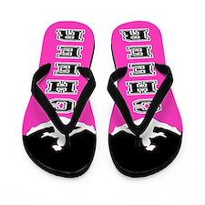 Cheer Black and Pink Flip Flops