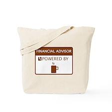 Financial Advisor Powered by Coffee Tote Bag