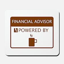 Financial Advisor Powered by Coffee Mousepad