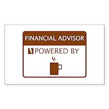 Financial Advisor Powered by Coffee Decal