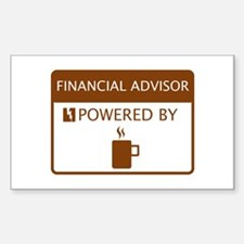 Financial Advisor Powered by Coffee Decal