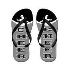 Cheer black and Gray Flip Flops