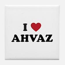 I Love Ahvaz Tile Coaster