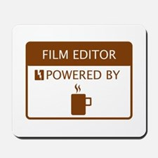 Film Editor Powered by Coffee Mousepad
