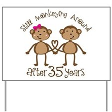35th Anniversary Love Monkeys Yard Sign