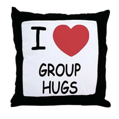 I heart group hugs Throw Pillow