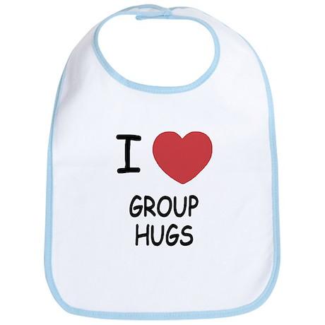 I heart group hugs Bib