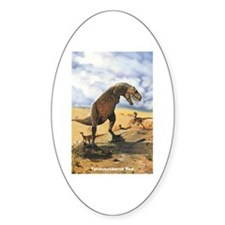 Tyrannosaurus Rex T-Rex Dinosaur Oval Decal