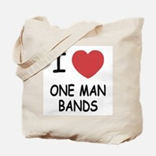 I heart one man bands Tote Bag