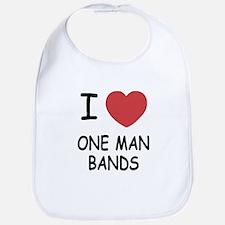 I heart one man bands Bib