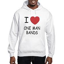 I heart one man bands Jumper Hoody