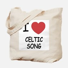 I heart celtic song Tote Bag