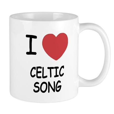 I heart celtic song Mug