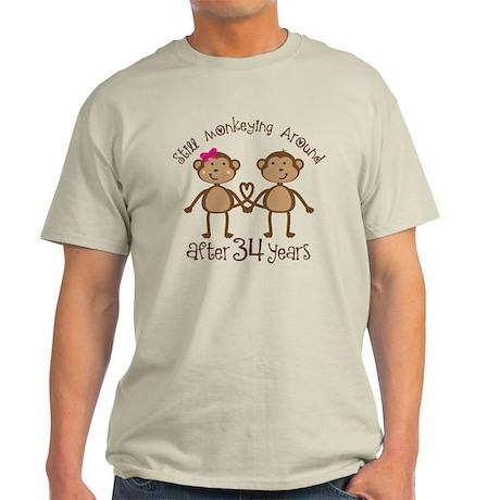 34th Anniversary Love Monkeys Light T-Shirt