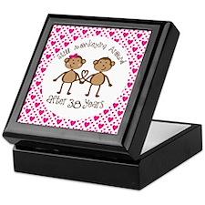 38th Anniversary Love Monkeys Keepsake Box