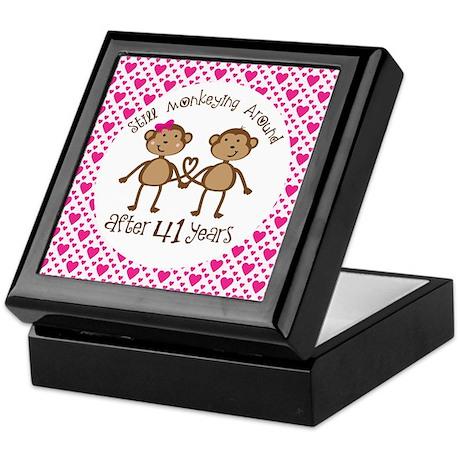 41st Anniversary Love Monkeys Keepsake Box