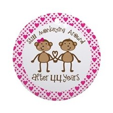 44th Anniversary Love Monkeys Ornament (Round)