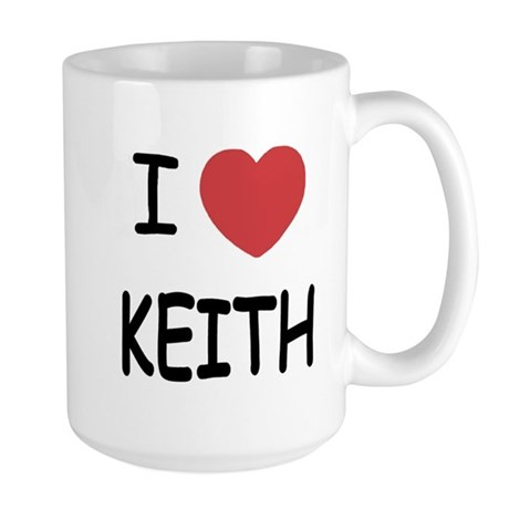 I heart KEITH Large Mug