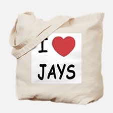 I heart jays Tote Bag