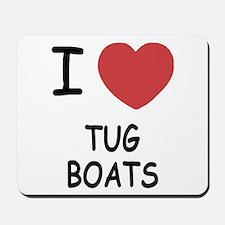 I heart tug boats Mousepad