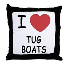 I heart tug boats Throw Pillow