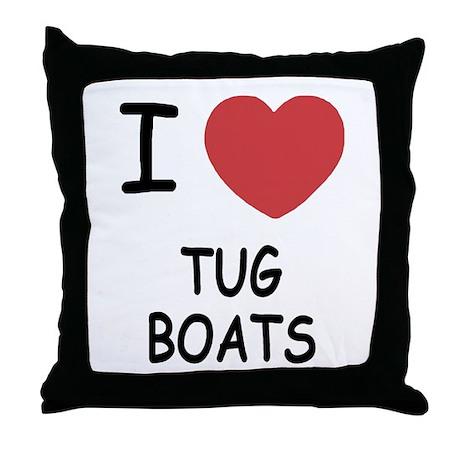 I heart tug boats Throw Pillow