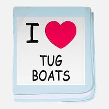 I heart tug boats baby blanket