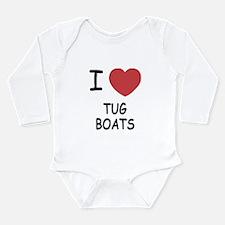 I heart tug boats Long Sleeve Infant Bodysuit