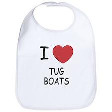 I heart tug boats Bib